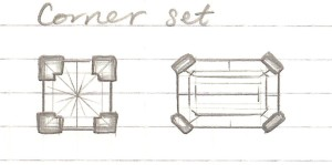 setting style sketches - corner
