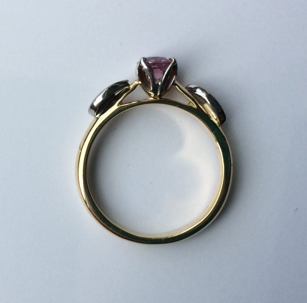 Side view of sarah's ring