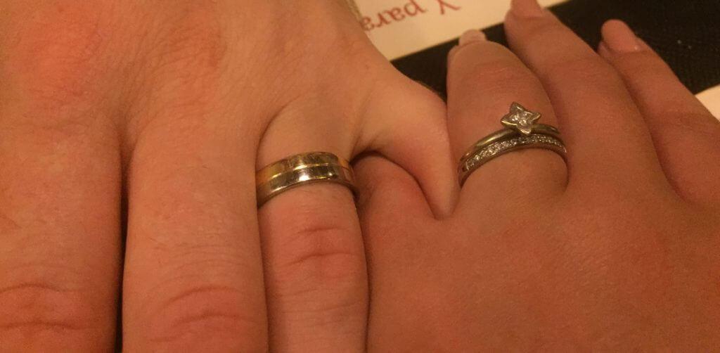 Jodie Gearing | Marc\'s Bespoke Mixed Metal Wedding RingMarc\'s ...